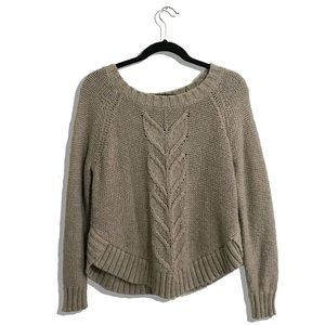 Aerie Heather Gray Thick Knit Sweater Medium